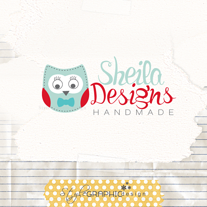 Cute Owl Logo Cute Owl Premade Logo by