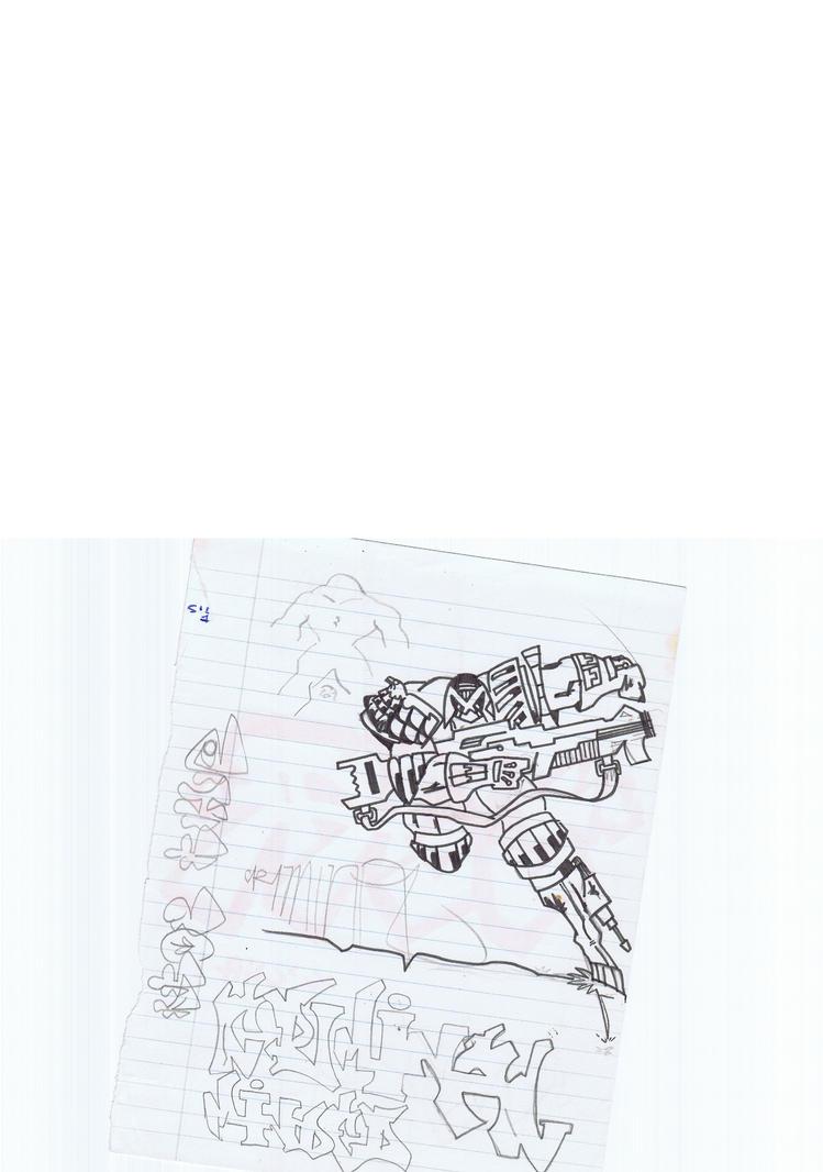 judge dredd doodle by sigma958