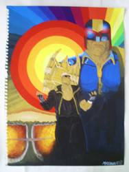 Judge Dredd vs the Bad Man by sigma958