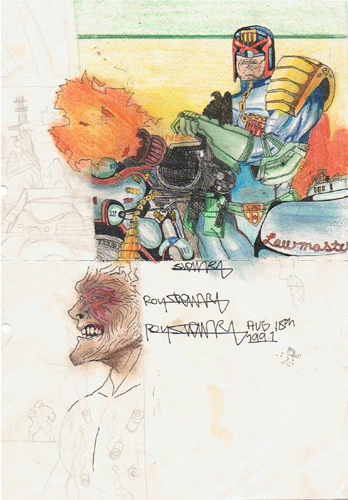 Judge Dredd Sketch 1991 by sigma958