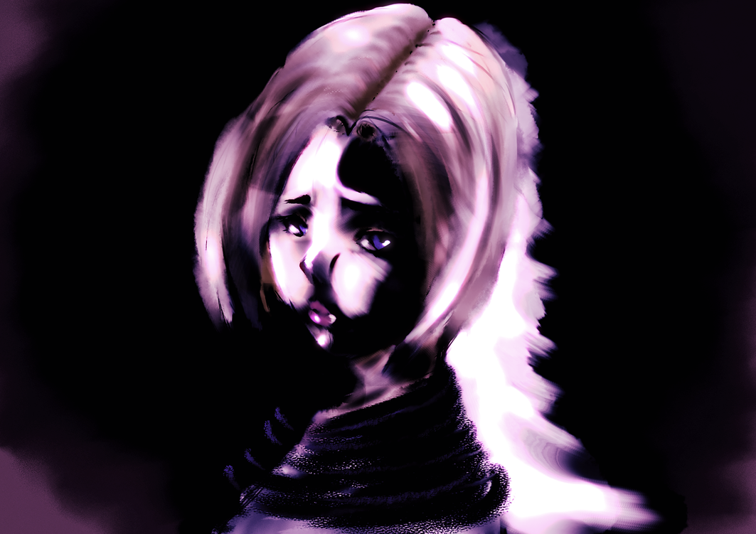 Girl with dark outlines by Jocker8CLz