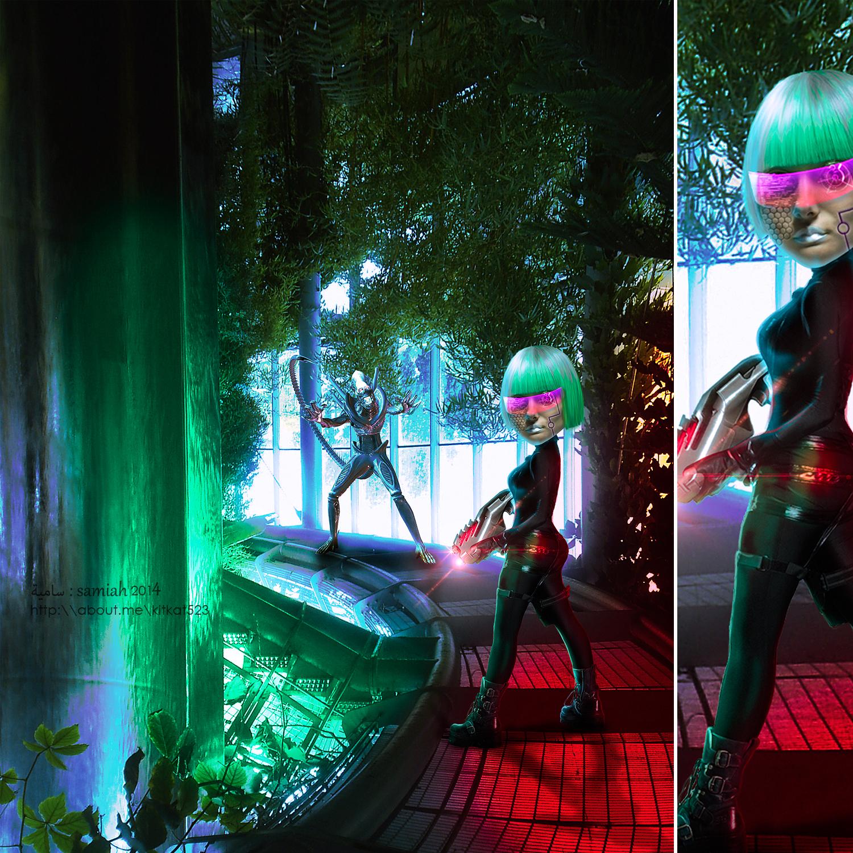 Alien attack by kitkat523