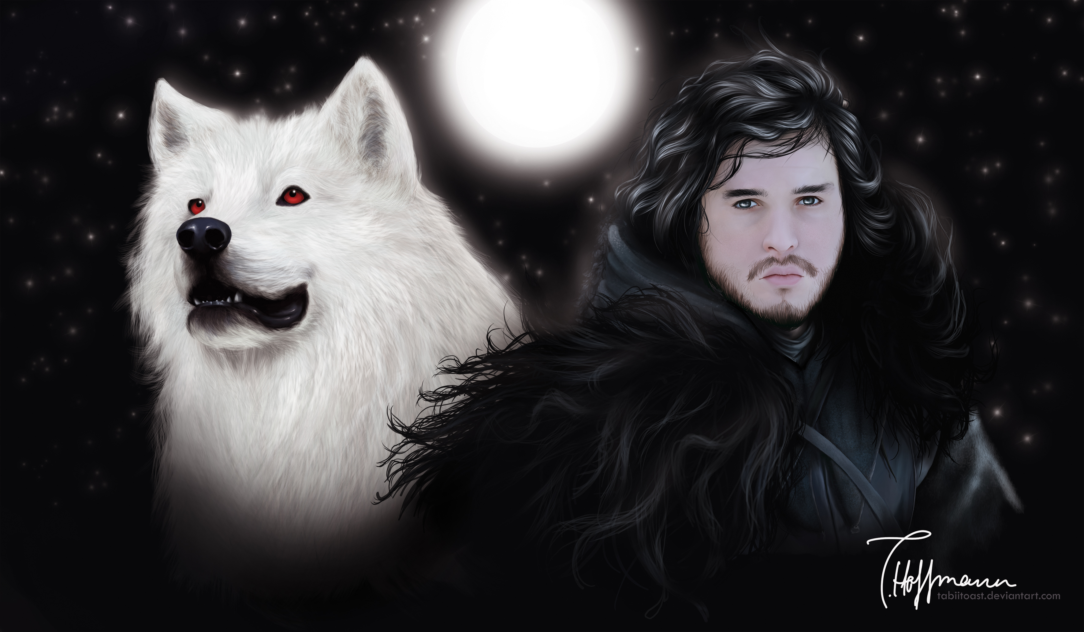 Game Of Thrones: Jon And Ghost By TabiiToast On DeviantArt