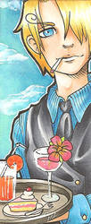 Sanji Bookmark by TabiiToast