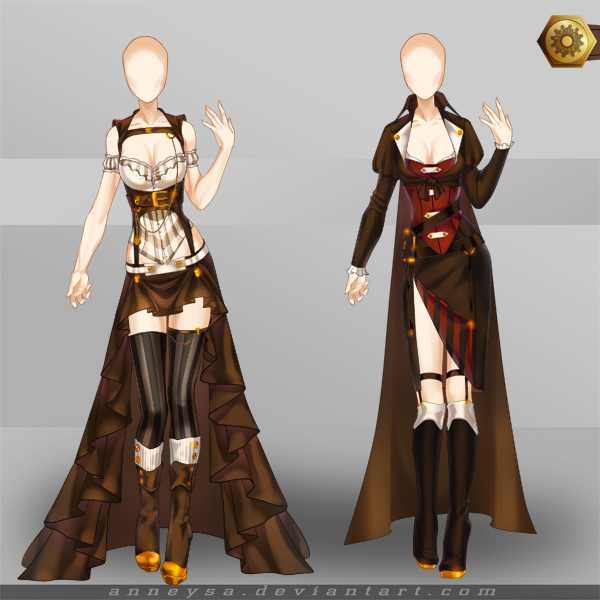 [Closed]Adoptable Outfit (Steampunk 3-4) by Anneysa on DeviantArt