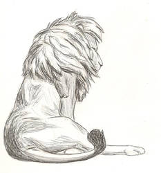Lion at Rest by Ryiah