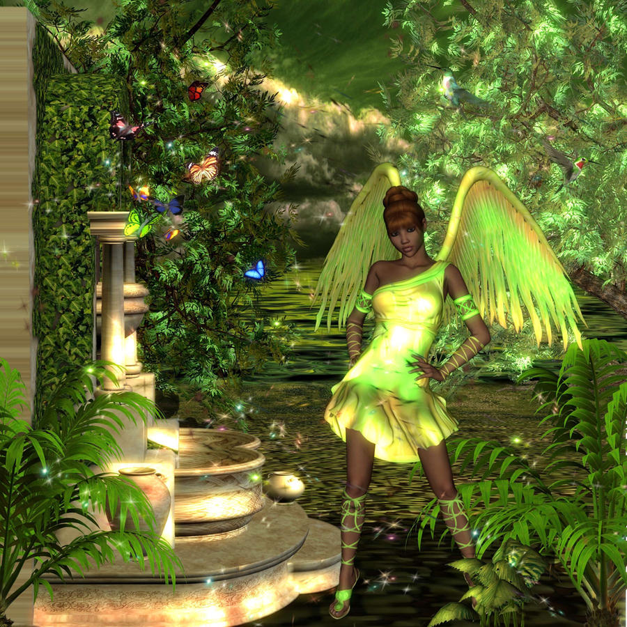 green angel in springtime - photo #11