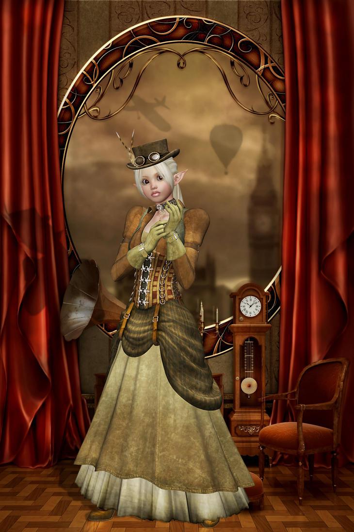 Steampunk Elf by sweetpoison67 on DeviantArt