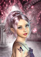 Pretty Pink Elf by sweetpoison67