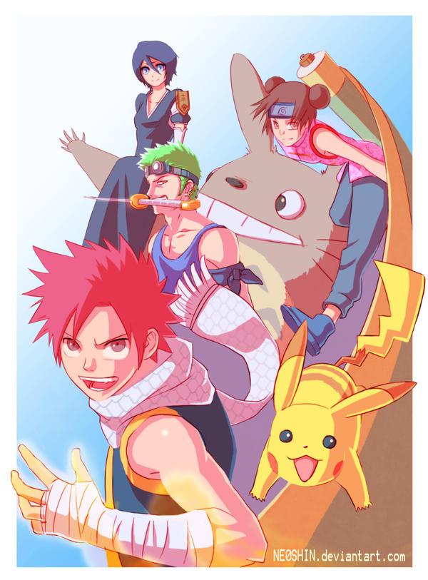 Anime Dream Team by NE0SHIN