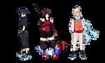 OC Shin, Ash and Nova