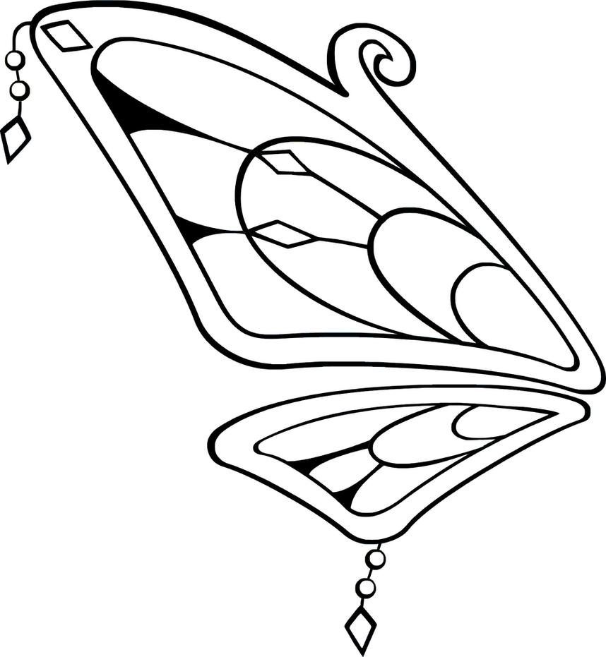 Line Art Wings : Rainbow fairy wings line art by jelena jecy on deviantart