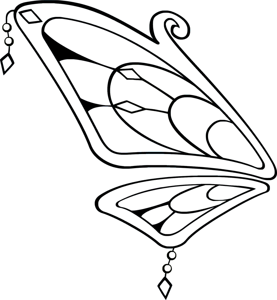 Line Drawing Wings : Rainbow fairy wings line art by jelena jecy on deviantart