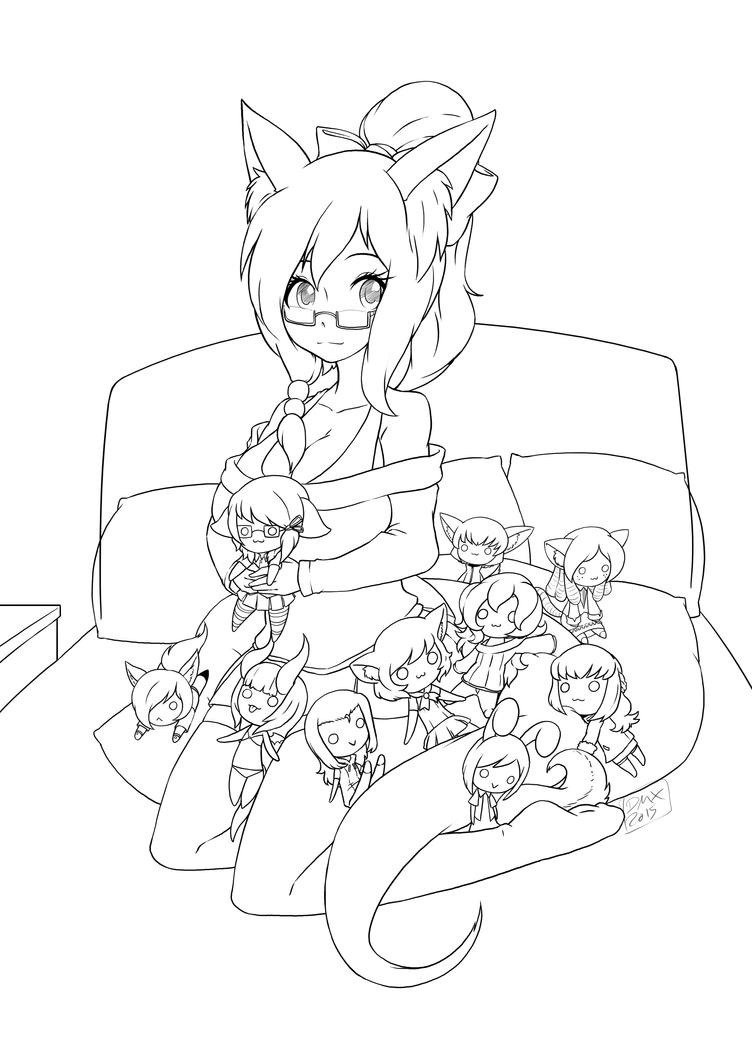 Serenity and her plushies by Dragonmanx by UnskilledNinja