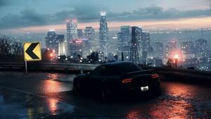 RX-7 with city skyline