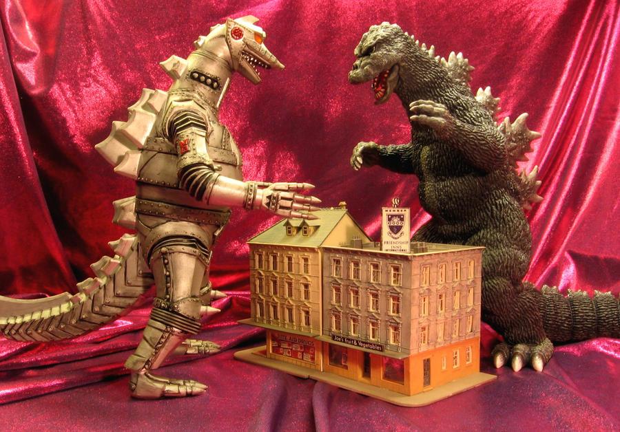 Godzilla vs. MechaGodzilla by godzillabadger