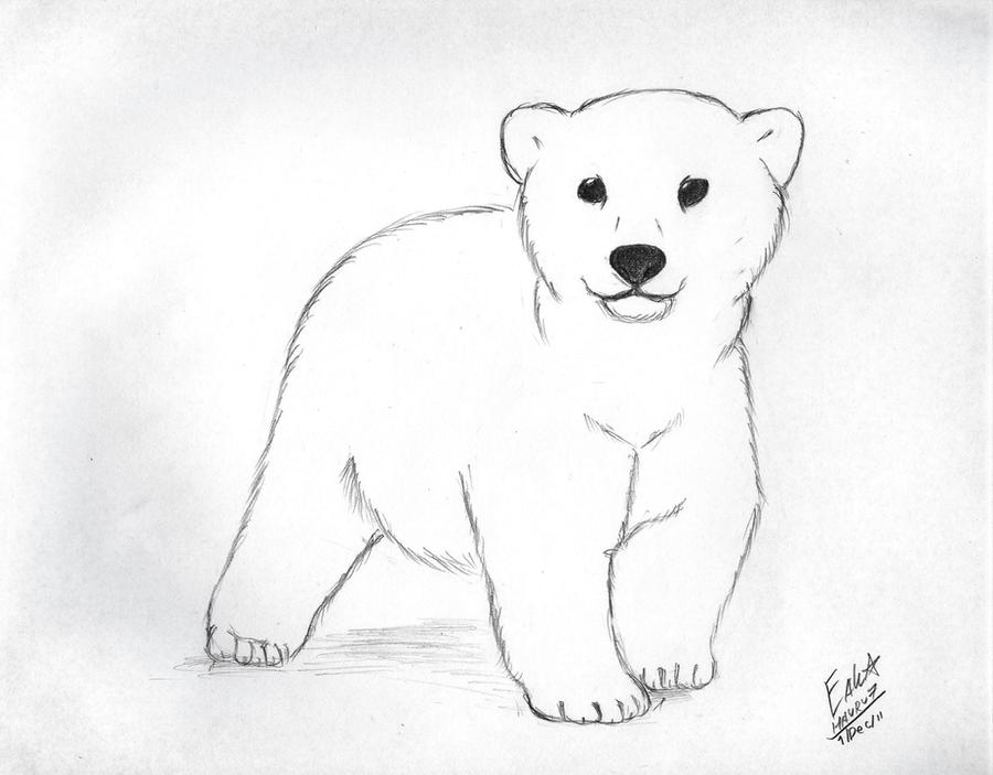 polar bear cub by hauru7