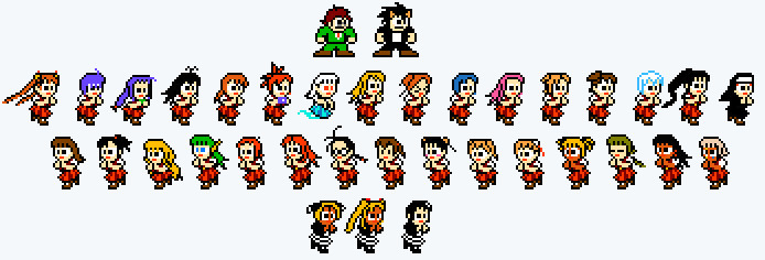 Megaman-style Negima Sprites By TheBigBoo On DeviantArt