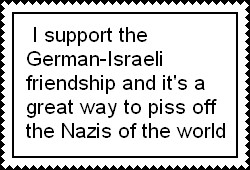 Pro-German-Isreali friendship by ABtheButterfly