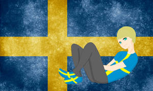 HM CSF Sweden flag background