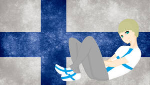HM CSF Finland flag background