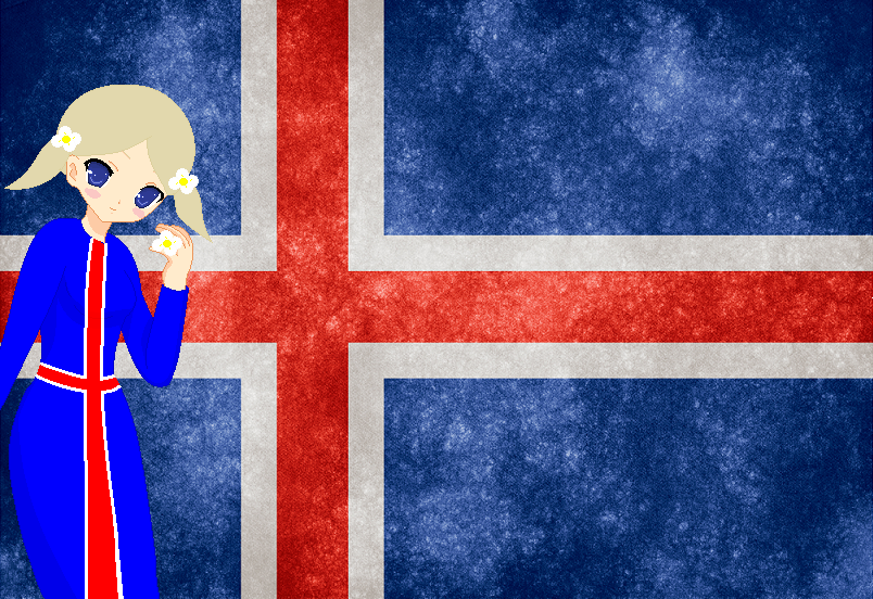 HM CSF Iceland flag background