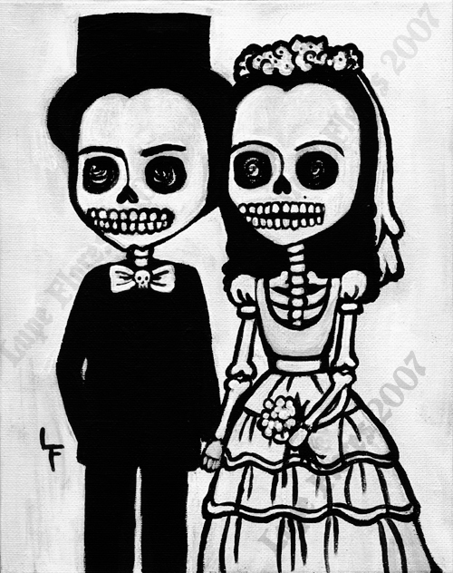 Day Of The Dead Couple By Lunat1ka