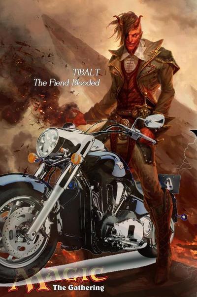 Tibalt On A Harley by artbydarryl
