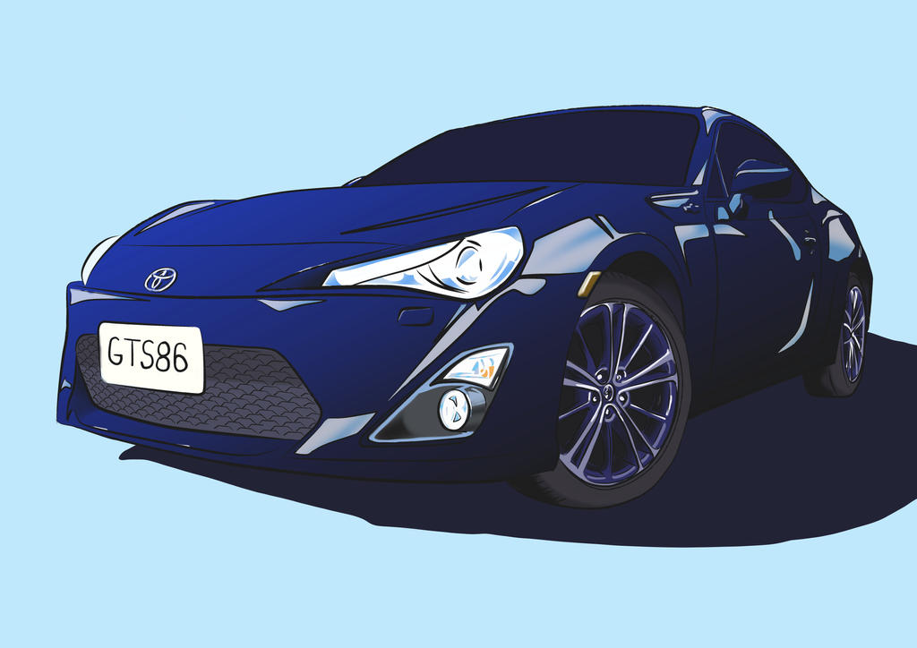Toyota 86 work in progress 2 by artbydarryl