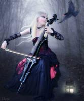 Music in the Dark Forest by Eternal-Dream-Art