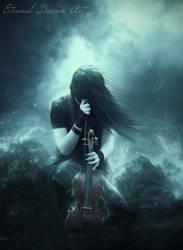 Goth Violin by Eternal-Dream-Art