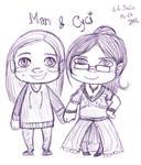 Chibis - Man et Cyci