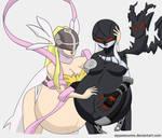 [$] Pregnant Angewomon + LadyDevimon (Digimon)