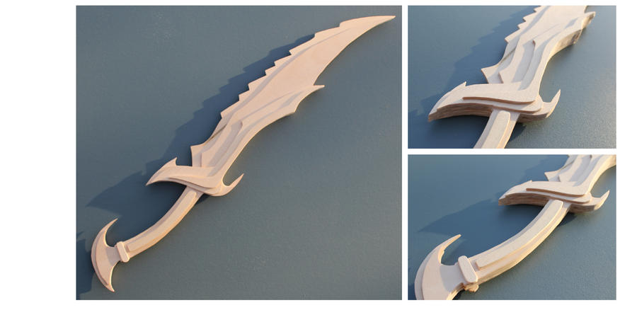 Unpainted Daedric Sword from Skyrim by folderol