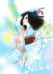 Summer feeling Kimono woman