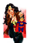 wonderwoman -Her shopping got it by..?-