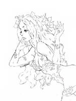 pencil art Poison Ivy by La-h-i-n-a-y-u-m-e