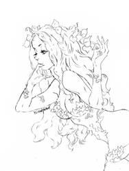 pencil art Poison Ivy