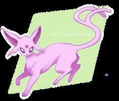 Pokemon Drawing Challenge - Day 4: Espeon by OtakuGirl98