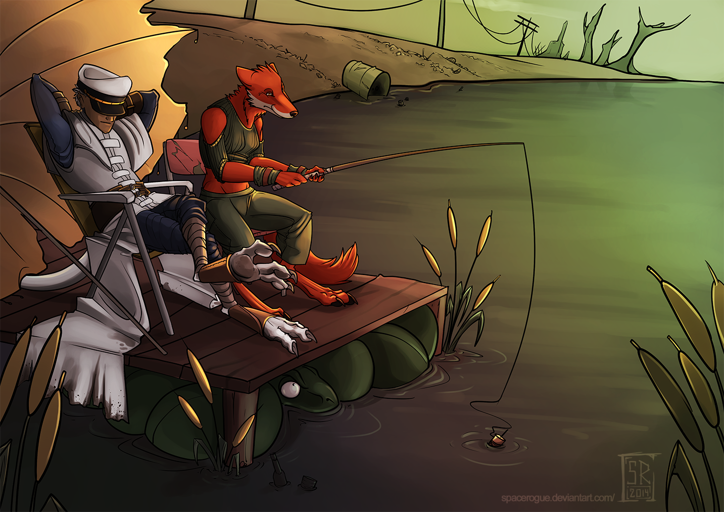 Gone fishin by spacerogue