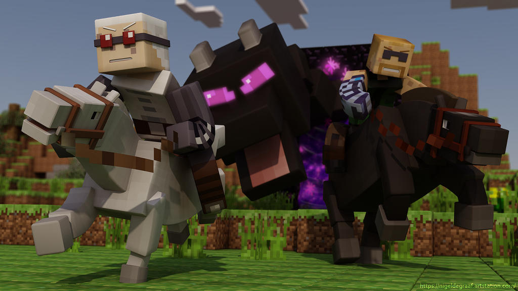 Race and Jay do Minecraft by spacerogue