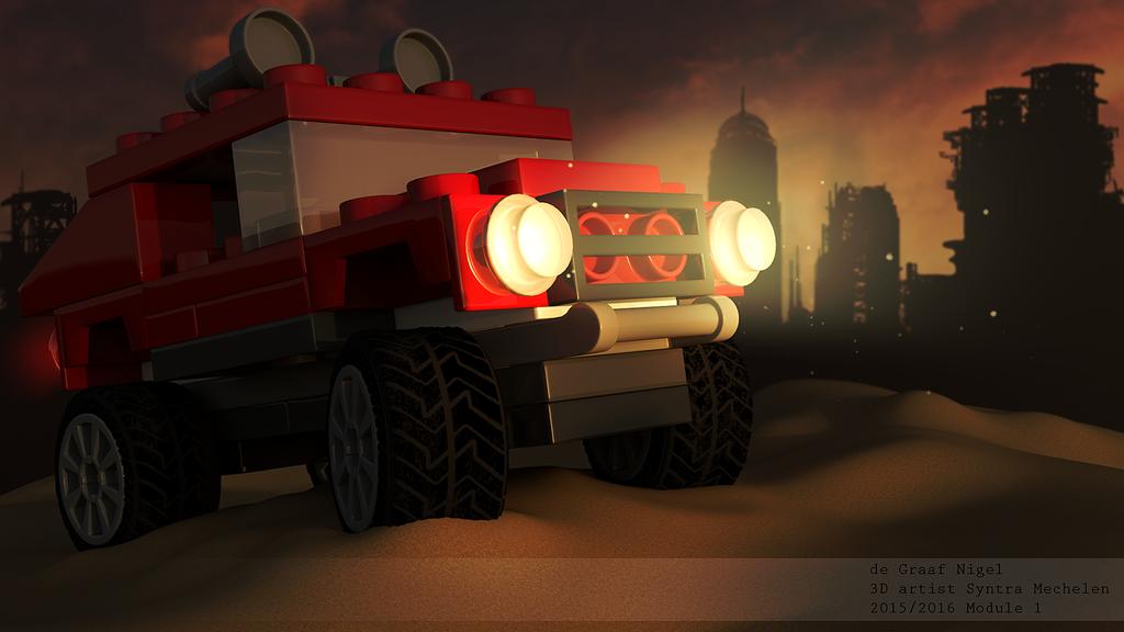 Lego Jeep by spacerogue