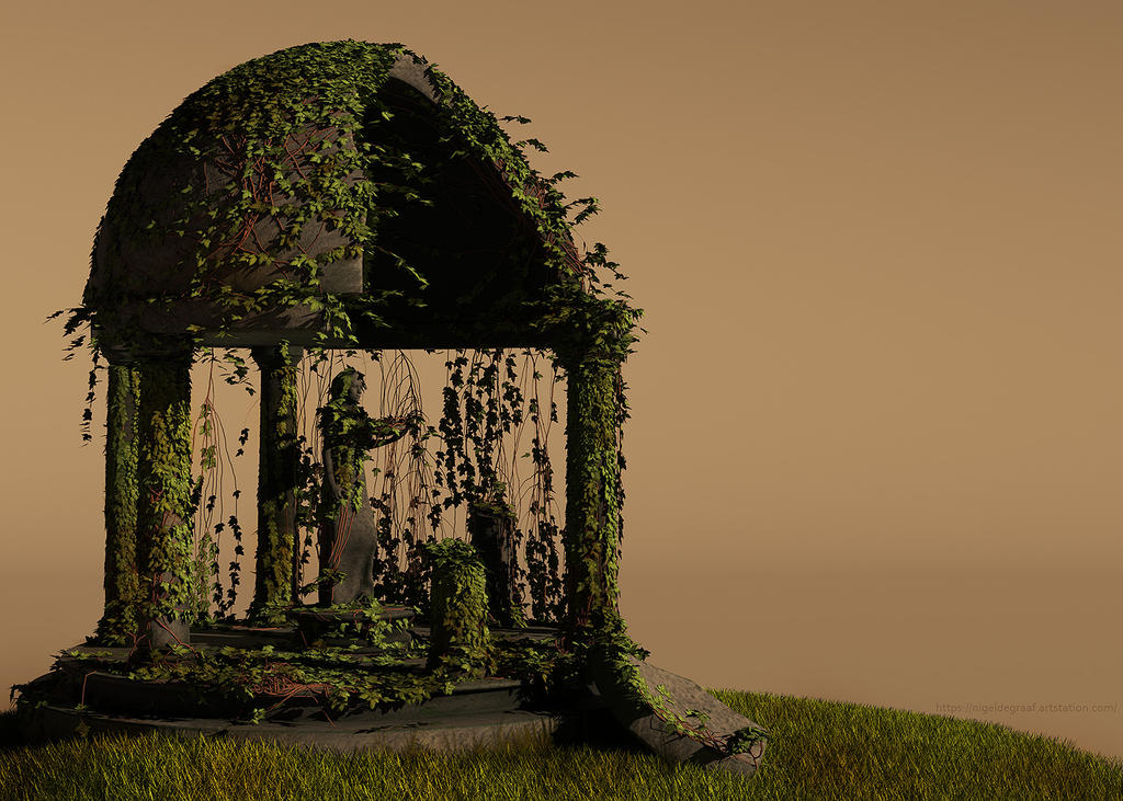 greek temple by spacerogue