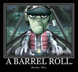 Murdoc do a barrel roll