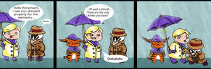 Watchmen chibis- Rainy day