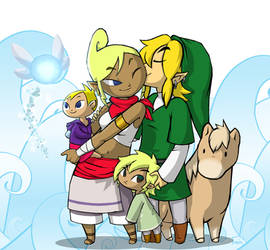 The Hero and His Family by BeagleTsuin