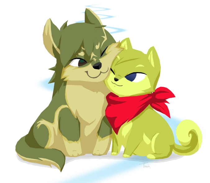 Nos avatars et signatures chéries ;) - Page 5 Toon_Wolf_Link_and_Shiba_Tetra_by_BeagleTsuin