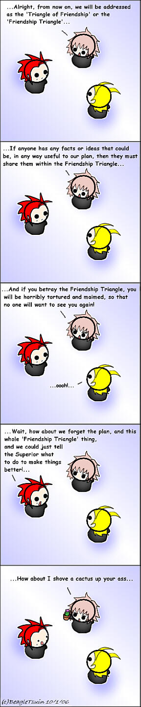 Org.13: Friendship Triangle by BeagleTsuin