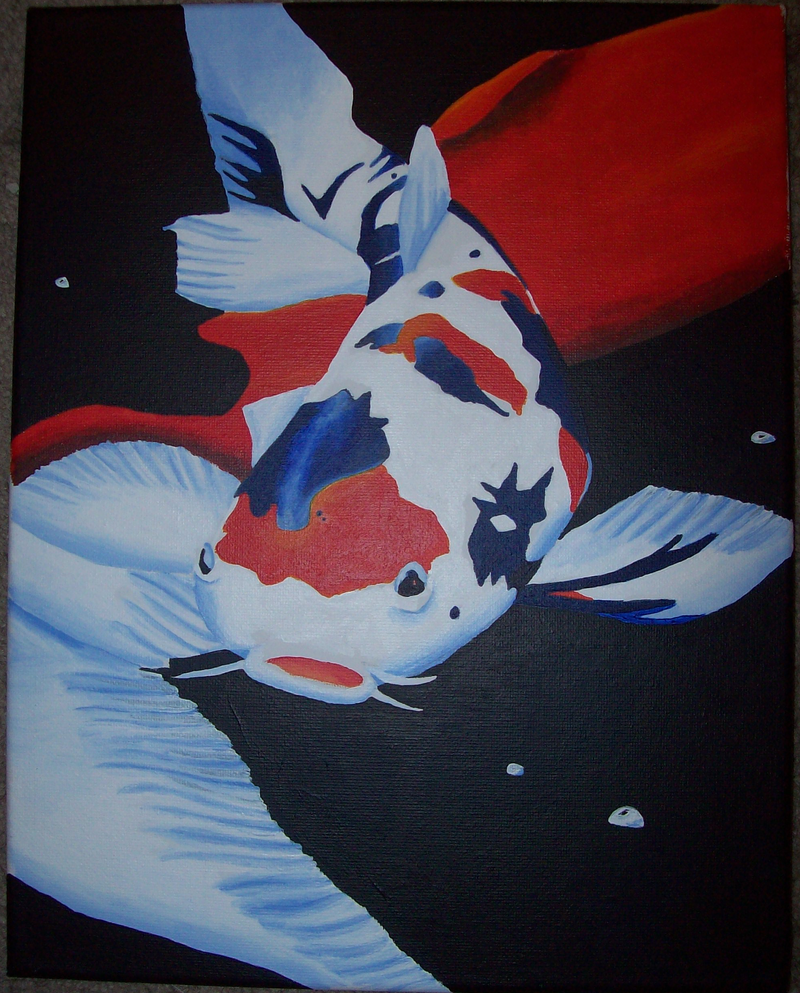 Koi fish painting by dragonessdeanna on deviantart for How much are koi fish