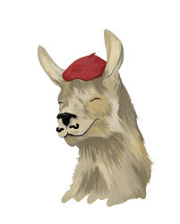 French the Lama - DFTBA by kazapenny13